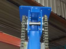 Chain drive in our packaging, palletizers and material handling equipment.